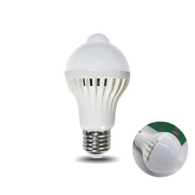 Infrared Motion Sensor LED 5W PIR Detection Light Bulb E27 Night Light for Stairs Garage Corridor Basement Hallway Yard