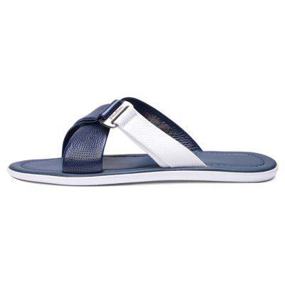 Summer Beach Shoes Cool Feeling Soft Leather Fashionable Men SandalsMens Slippers<br>Summer Beach Shoes Cool Feeling Soft Leather Fashionable Men Sandals<br><br>Available Size: 38 39 40 41 42 43<br>Embellishment: Rivet<br>Gender: For Men<br>Outsole Material: PU<br>Package Contents: 1xShoes(pair)<br>Pattern Type: Others<br>Season: Summer<br>Slipper Type: Outdoor<br>Style: Rome<br>Upper Material: Genuine Leather<br>Weight: 1.9448kg