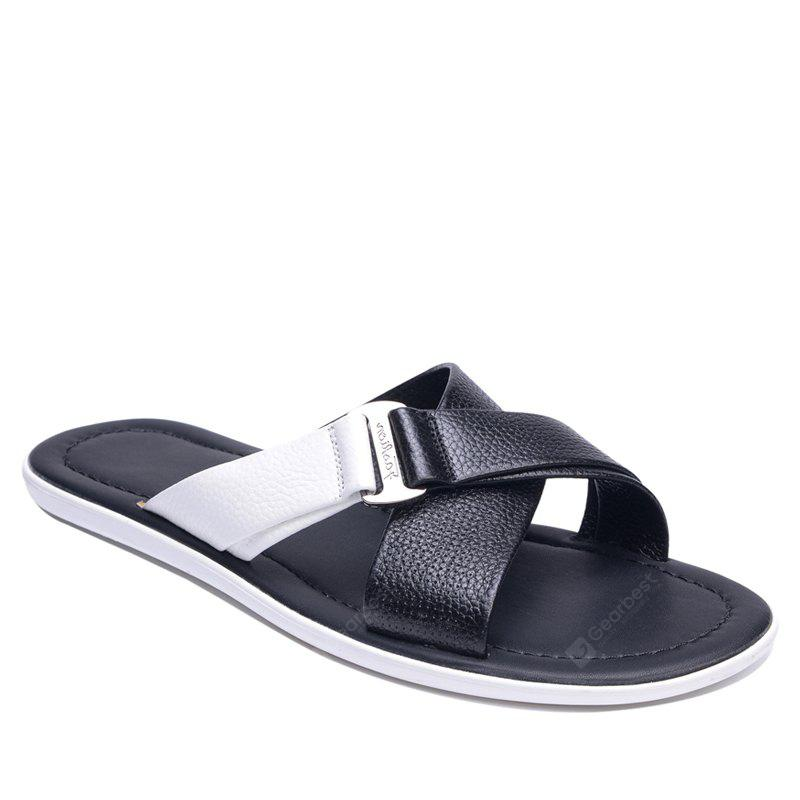 Summer Beach Shoes Cool Feeling Soft Leather Fashionable Men Sandals