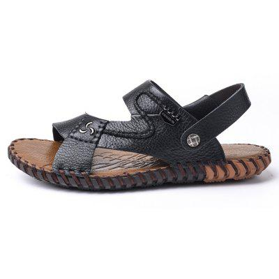 Ummer Male Sandals Men Genuine Leather Shoes Open Toe Sandals Slippers Fashion Casual Cowhide Beach ShoesMens Sandals<br>Ummer Male Sandals Men Genuine Leather Shoes Open Toe Sandals Slippers Fashion Casual Cowhide Beach Shoes<br><br>Available Size: 38 39 40 41 42 43<br>Embellishment: Chains<br>Gender: For Men<br>Outsole Material: PU<br>Package Contents: 1xShoes(pair)<br>Pattern Type: Solid<br>Season: Summer<br>Slipper Type: Outdoor<br>Style: Leisure<br>Upper Material: Genuine Leather<br>Weight: 1.9448kg