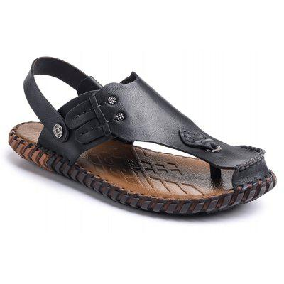 Summer Cool Comfortable Full Grain Genuine Leather Men Sandals