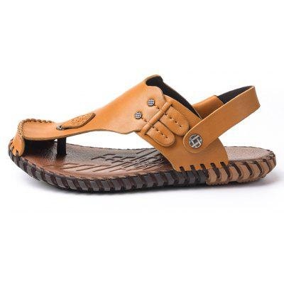 Summer Cool Comfortable Full Grain Genuine Leather Men SandalsMens Sandals<br>Summer Cool Comfortable Full Grain Genuine Leather Men Sandals<br><br>Available Size: 38 39 40 41 42 43<br>Embellishment: Sequined<br>Gender: For Men<br>Outsole Material: PU<br>Package Contents: 1xShoes(pair)<br>Pattern Type: Solid<br>Season: Summer<br>Slipper Type: Outdoor<br>Style: Leisure<br>Upper Material: Genuine Leather<br>Weight: 1.9448kg