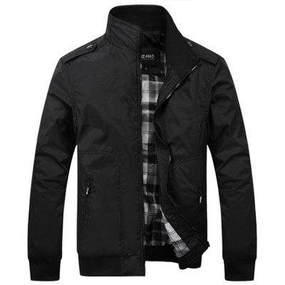 Men Spring Casual Mens Thin JacketsMens Jackets &amp; Coats<br>Men Spring Casual Mens Thin Jackets<br><br>Clothes Type: Jackets<br>Collar: Stand Collar<br>Fabric Type: Broadcloth<br>Material: Polyester<br>Package Contents: 1XJacket<br>Season: Spring, Fall<br>Shirt Length: Regular<br>Sleeve Length: Long Sleeves<br>Style: Casual<br>Weight: 0.6000kg