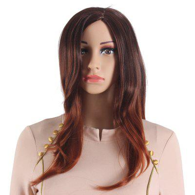Long Wavy Ombre Red Brown Wigs for Women Heat Resistant Synthetic Hair Wigs SW0028B-O