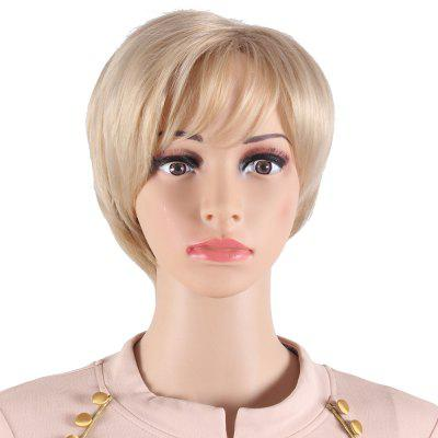 Short Wavy Pixie Cut Style Mix Blonde Synthetic Hair Wigs for Women Heat Resistant Wig SW0081-O