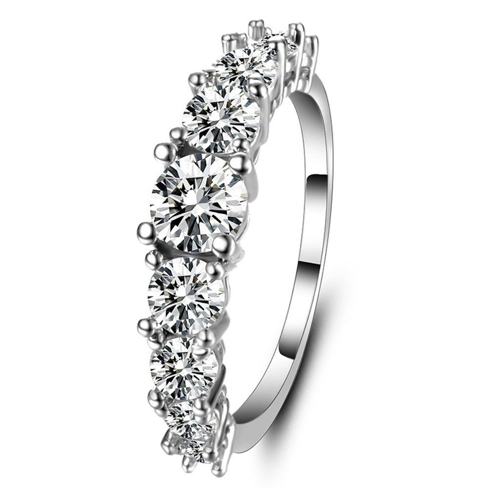 Simple Engagement Zircon womens fashion Ring