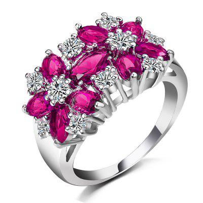 Flower Zircon Crystal Fashion Womens RingRings<br>Flower Zircon Crystal Fashion Womens Ring<br><br>Gender: For Women<br>Metal Type: Zinc Alloy<br>Occasion: Party<br>Package Content: 1 x ring<br>Package size (L x W x H): 2.00 x 1.00 x 1.00 cm / 0.79 x 0.39 x 0.39 inches<br>Package weight: 0.0200 kg<br>Product size (L x W x H): 1.60 x 0.80 x 0.20 cm / 0.63 x 0.31 x 0.08 inches<br>Product weight: 0.0150 kg<br>Ring Size (US Size): 7,6,8,10,9