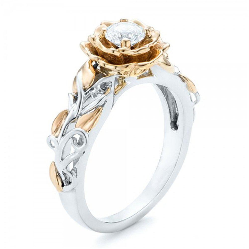 Flower Engagement Fashion Womens Jewelry Ring