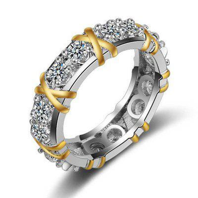 Fashion Womens Full Diamond Wedding Ring