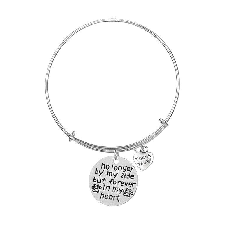 No Longer By Side But Forever In My Heart Fashion Cuff Bangle