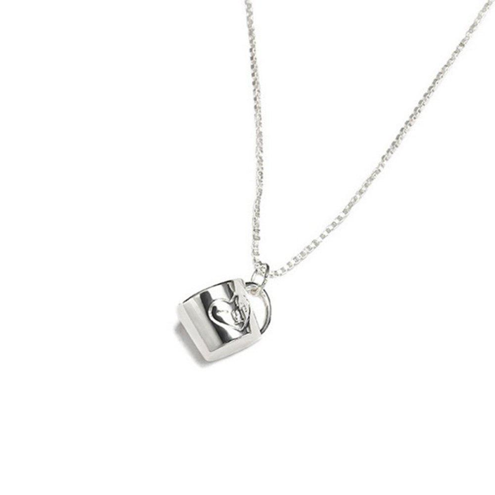 Personality Cup Heart Necklace Pendant Necklace