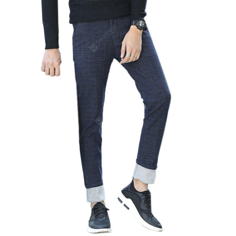 Daifansen Winter Men'S Cashmere with Thickened Small Straight Casual Pants