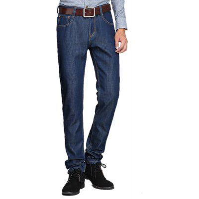 Daifansen Men's Winter Fashion Repair and Thick Cashmere Jeans