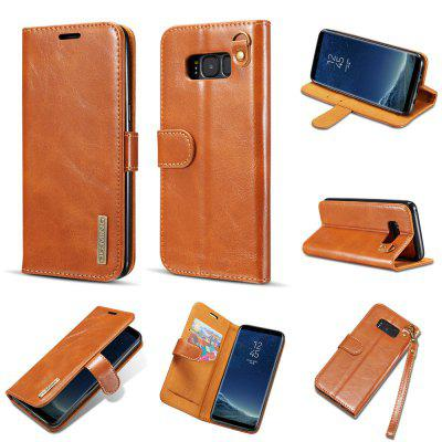For Samsung Galaxy S8 Plus Leather Magnet Adsorption Phone Case