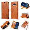 For Samsung Galaxy S8 Plus Leather Magnet Adsorption Phone Case - BROWN