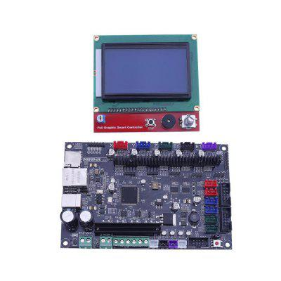 3D Printer Motherboard MKS SBASE V1.3 with 12864 LCD Display Screen Module for 3D Printer