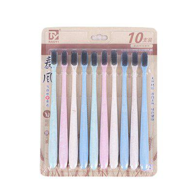 10 Pcs Toothbrush Set Super Soft Thin Hair Portable Toothbrush