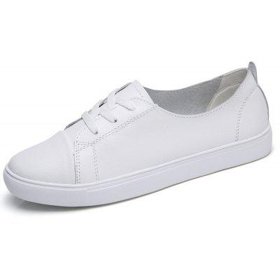 B1701 Flat Small White Leather ShoesWomens Flats<br>B1701 Flat Small White Leather Shoes<br><br>Available Size: 35-40<br>Closure Type: Lace-Up<br>Flat Type: Ballet Flats<br>Gender: For Women<br>Heel Height Range: Low(0.75-1.5)<br>Insole Material: PVC<br>Occasion: Casual<br>Outsole Material: Rubber<br>Package Contents: 1xshoes pair<br>Package size (L x W x H): 33.00 x 20.00 x 15.00 cm / 12.99 x 7.87 x 5.91 inches<br>Package weight: 0.6000 kg<br>Pattern Type: Others<br>Season: Spring/Fall<br>Toe Shape: Round Toe<br>Toe Style: Closed Toe<br>Upper Material: Cow Split