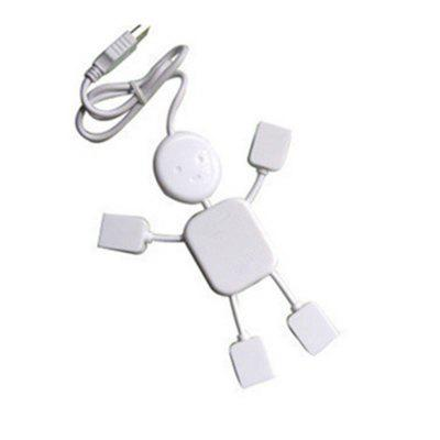 Humanoid Usb Splitter Long USB Interface Small Humanoid USB Extension HUB Splitter SplitterChargers &amp; Cables<br>Humanoid Usb Splitter Long USB Interface Small Humanoid USB Extension HUB Splitter Splitter<br><br>Package Contents: 1 x hub<br>Package size (L x W x H): 18.00 x 16.00 x 3.00 cm / 7.09 x 6.3 x 1.18 inches<br>Package weight: 0.0750 kg<br>Product weight: 0.0450 kg<br>Type: Adapter