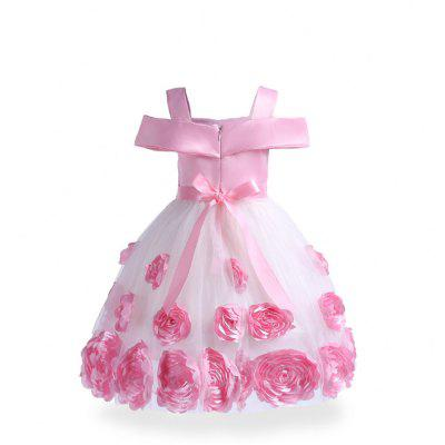 Autumn Winter Baby Girls Christmas Party Lace Tutu Dress Rose Embroidery Costume Princess Clothes For Girl Wear Vestido 4pcs baby girl clothes swan infant clothing princess tutu dress party baby christmas outfits clothes birthday costumes vestido