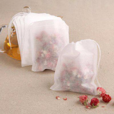 5.5X7cmNon-Woven 100PCS Paper Empty Draw String Teabags Heat Seal Filter Herb Loose Tea Bag Pouch