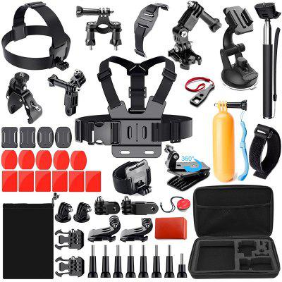 44-in-1 Accessories for GoPro HERO 5 Session 4 3+ 3 2 1 Black Silver SJ4000/5000/6000, Sports Camera Accessories