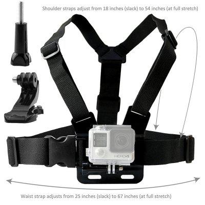 Body Mount Bundle for Gopro Hero 6/5 Black Session 4 Session Black Silver for Hero+ LCD 6/5/4/3+/3/2/1Action Cameras &amp; Sport DV Accessories<br>Body Mount Bundle for Gopro Hero 6/5 Black Session 4 Session Black Silver for Hero+ LCD 6/5/4/3+/3/2/1<br><br>Accessory type: Head Straps, Wrist Straps, Chest Straps, Screw<br>Apply to Brand: Gopro,SJCAM<br>Compatible with: All models, YI II, SJCAM 5000 plus, SJ4000 WiFi, SJ4000 Plus, SJCAM M10 Plus, SJCAM M10, SJCAM 4000 plus, SJCAM M20, SJ7000, GoPro Hero 4 Session, YI, Gopro Hero 4, Gopro Hero 3 Plus, Gopro Hero 3, Gopro Hero 2, Gopro Hero 1, GoPro Hero Series, Xiaomi Yi, Action Camera, SJ6000, SJ5000, SJ4000<br>Extened Length(cm): 15<br>Folded Length(cm): 5<br>Length Range(cm): 15<br>Material: Silicone, ABS, Plastic, Nylon<br>Package Contents: 1 x Chest Mount,1 x J-Hook ,1 x Head Strap Mount ,1 x Wrist Strap Mount ,1 x Thumbscrew ,1 x CamKix Drawstring Storage Bag<br>Package size (L x W x H): 15.00 x 11.00 x 5.00 cm / 5.91 x 4.33 x 1.97 inches<br>Package weight: 0.5000 kg<br>Product size (L x W x H): 14.00 x 10.00 x 4.00 cm / 5.51 x 3.94 x 1.57 inches<br>Product weight: 0.4500 kg<br>Waterproof: Yes