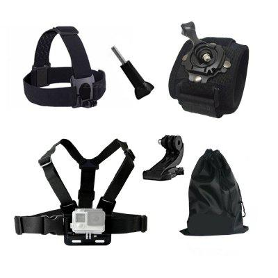 Buy Accessories Chest Head J Mount Belt Strap for GoPro hero 4/5/6/SJCAM/SJ4000/SJ5000/SJ5000X for GoPro Action Camera, BLACK, Consumer Electronics, Camera & Photo, Action Cameras & Sport DV Accessories for $13.54 in GearBest store