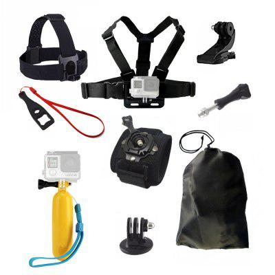 Accessories Set for GoPro Hero 6/5/4/3/2 Xiaomi Yi 4K Chest Head Mount Strap Float bobber For SJCAM Sport Action Camera