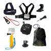 Accessories Set for GoPro Hero 6/5/4/3/2 Xiaomi Yi 4K Chest Head Mount Strap Float bobber For SJCAM Sport Action Camera - BLACK