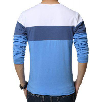 MenS Round Collar and Long Sleeve Letter Printed T-ShirtsMens T-shirts<br>MenS Round Collar and Long Sleeve Letter Printed T-Shirts<br><br>Collar: Round Neck<br>Fabric Type: Broadcloth<br>Material: Cotton, Polyester<br>Package Contents: 1 x T-Shirt<br>Pattern Type: Patchwork<br>Sleeve Length: Full<br>Style: Fashion<br>Weight: 0.2400kg