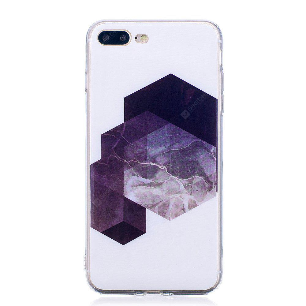 Custodia per cellulare in TPU con motivo a mosaico in marmo con motivo a mosaico ultra sottile, per iPhone 8 Plus
