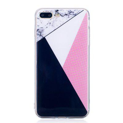 Ultra Thin Mixed Color Mosaic Marble Stone Patterned Soft TPU Phone Case for iPhone 8 Plus
