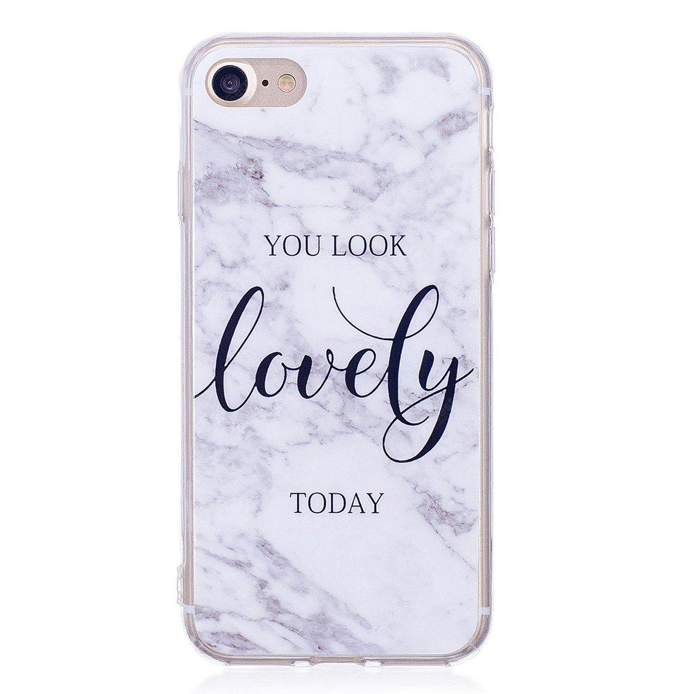 Ultra Thin Lovely Characters Marble Stone Patterned Soft TPU Phone Case for iPhone 8