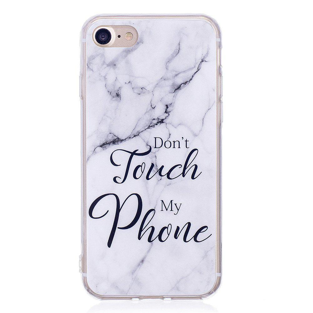 Ultra Thin Black And White Mixed color Marble Stone Patterned Soft TPU Phone Case for iPhone 8