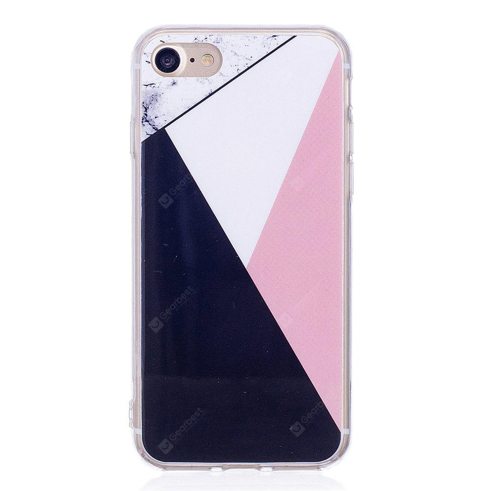 Ultra Thin Mixed Color Mosaic Marble Stone Patterned Soft TPU Phone Case for iPhone 8