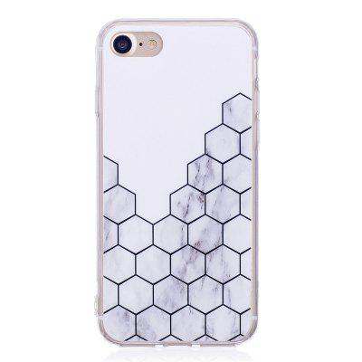 Ultra Thin Plaid Marble Stone Patterned Soft TPU Phone Case for iPhone 8