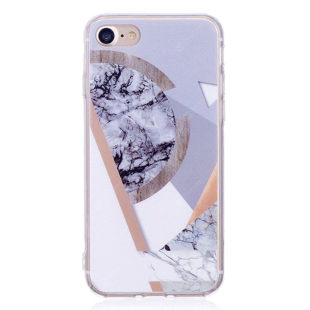 Ultra Thin Mosaic Marble Stone Patterned Soft TPU Phone Case for iPhone 8