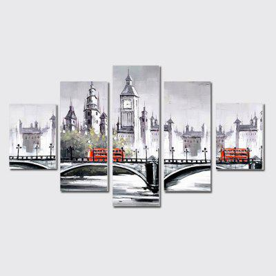 QiaoJiaHuaYuan No Frame Canvas Five Sets Of The Abstract Architectural Bridge Sofa Background Decoration
