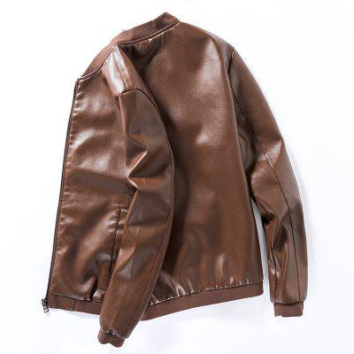 Mens Solid Color Casual JacketMens Jackets &amp; Coats<br>Mens Solid Color Casual Jacket<br><br>Clothes Type: Leather &amp; Suede<br>Collar: Stand Collar<br>Material: Cotton, Faux Leather<br>Package Contents: 1 X Jacket<br>Season: Spring, Fall, Winter<br>Shirt Length: Regular<br>Sleeve Length: Long Sleeves<br>Style: Casual<br>Weight: 0.8000kg