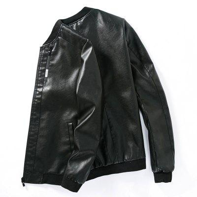 Young Slim Leather JacketMens Jackets &amp; Coats<br>Young Slim Leather Jacket<br><br>Clothes Type: Leather &amp; Suede<br>Collar: Stand Collar<br>Material: Cotton, Faux Leather<br>Package Contents: 1 X Jacket<br>Season: Spring, Fall, Winter<br>Shirt Length: Regular<br>Sleeve Length: Long Sleeves<br>Style: Casual<br>Weight: 0.9000kg