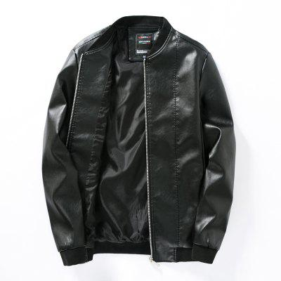 Men's Simple Leather Jacket
