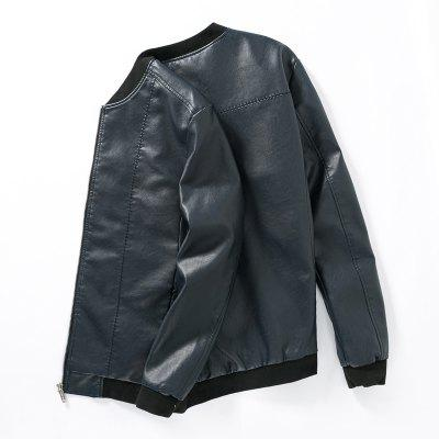 Mens Simple Leather JacketMens Jackets &amp; Coats<br>Mens Simple Leather Jacket<br><br>Clothes Type: Leather &amp; Suede<br>Collar: Stand Collar<br>Material: Cotton, Faux Leather<br>Package Contents: 1 x Jacket<br>Season: Spring, Fall, Winter<br>Shirt Length: Regular<br>Sleeve Length: Long Sleeves<br>Style: Casual<br>Weight: 0.8000kg
