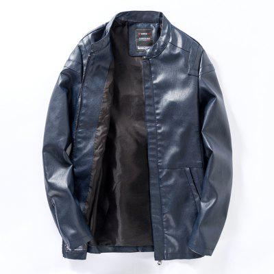MenS Zip-Up Leather JacketMens Jackets &amp; Coats<br>MenS Zip-Up Leather Jacket<br><br>Clothes Type: Leather &amp; Suede<br>Collar: Stand Collar<br>Material: Cotton, Faux Leather<br>Package Contents: 1 X Jacket<br>Season: Spring, Fall, Winter<br>Shirt Length: Regular<br>Sleeve Length: Long Sleeves<br>Style: Casual<br>Weight: 0.8000kg