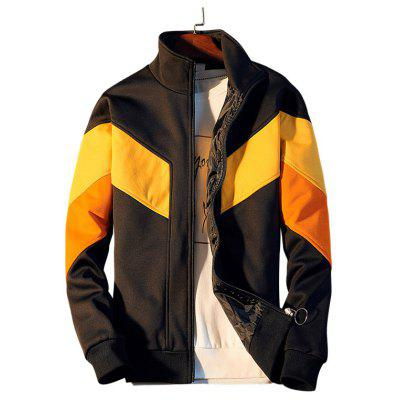Youth Stand Collar Fight Color Jacket