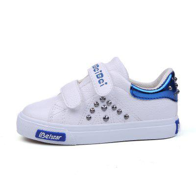 Young Men and Women Boys and Girls Boys and Girls Leather Shoes Rivet Leisure Magic Stickers finance and investments
