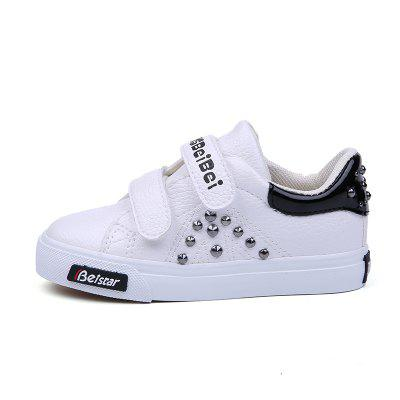 Young Men and Women Boys and Girls Boys and Girls Leather Shoes Rivet Leisure Magic StickersGirls shose<br>Young Men and Women Boys and Girls Boys and Girls Leather Shoes Rivet Leisure Magic Stickers<br><br>Available Size: 24-37<br>Closure Type: Hook / Loop<br>Embellishment: Rivet<br>Gender: Baby Girls<br>Heel Height Range: Low(0.75-1.5)<br>Heel Type: Low Heel<br>Insole Material: EVA<br>Item Type: Children Casual Shoes<br>Lining Material: Canvas<br>Outsole Material: Rubber<br>Package Contents: 1 x Pair of Shoes<br>Package weight: 0.6000 kg<br>Pattern Type: Patchwork<br>Product weight: 0.5500 kg<br>Seasons: Summer,Winter,Spring/Fall<br>Shoe Width: Medium(B/M)<br>Toe Shape: Round Toe<br>Upper Material: PU