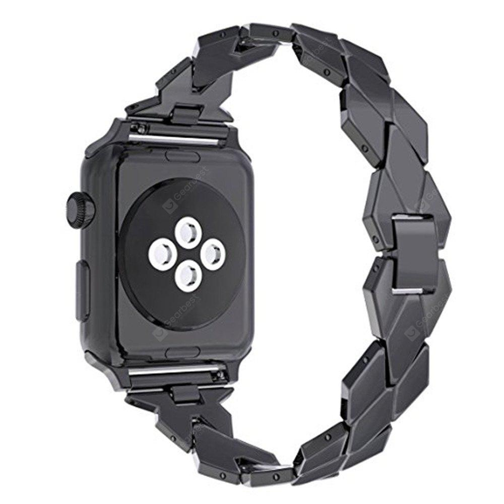 For 38mm iWatch Series 3/2/1 Rhombus Design Bands Replacement Stainless Steel Strap
