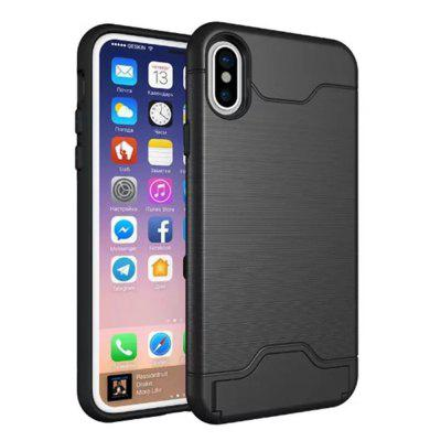 Cover Case Custodia PC + TPU per iPhone 10 in 1 ibrida con disegno wireframe