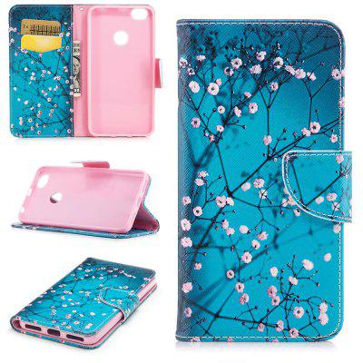 Plum Blossom Pattern for Xiaomi Redmi Note 5A Pro Luxury Style PU Leather Mobile Phone Case Flip Cover